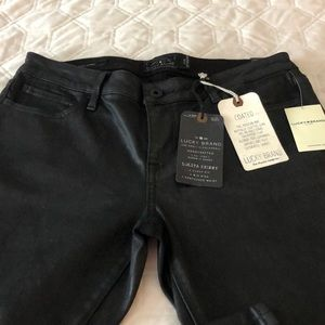 Lucky Brand NWT black coated jeans